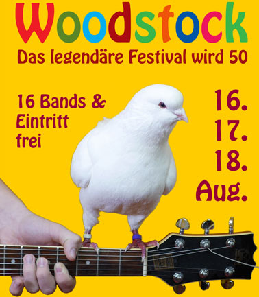 Internetseite: Woodstock 50th Anniversary